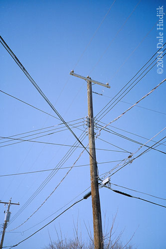 aerial power wires