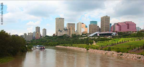 North Saskatchewan River at Edmonton Canada