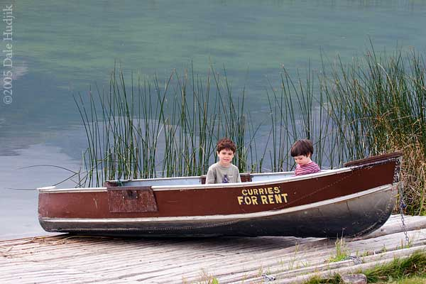 Boys Playing on a Boat