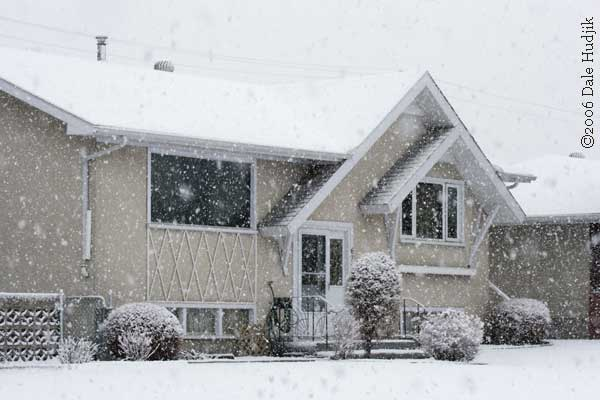 A House in a Spring Snow Storm