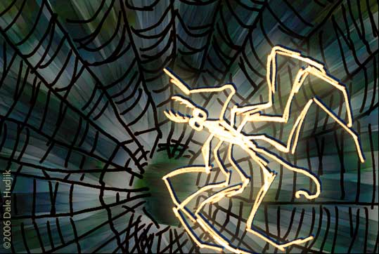 Illustration of Spider in Web